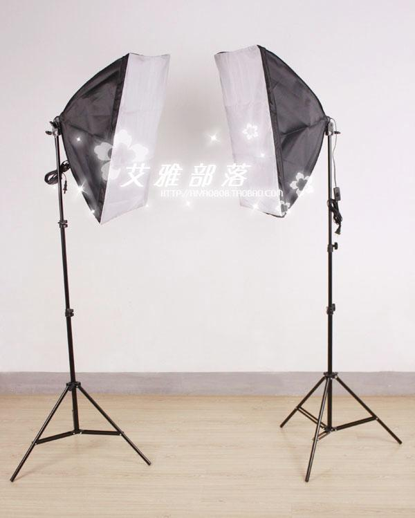 купить photography lighting kit  Photographic equipment granule softbox lamp single lamp holder photography light set clothes  cd50 недорого