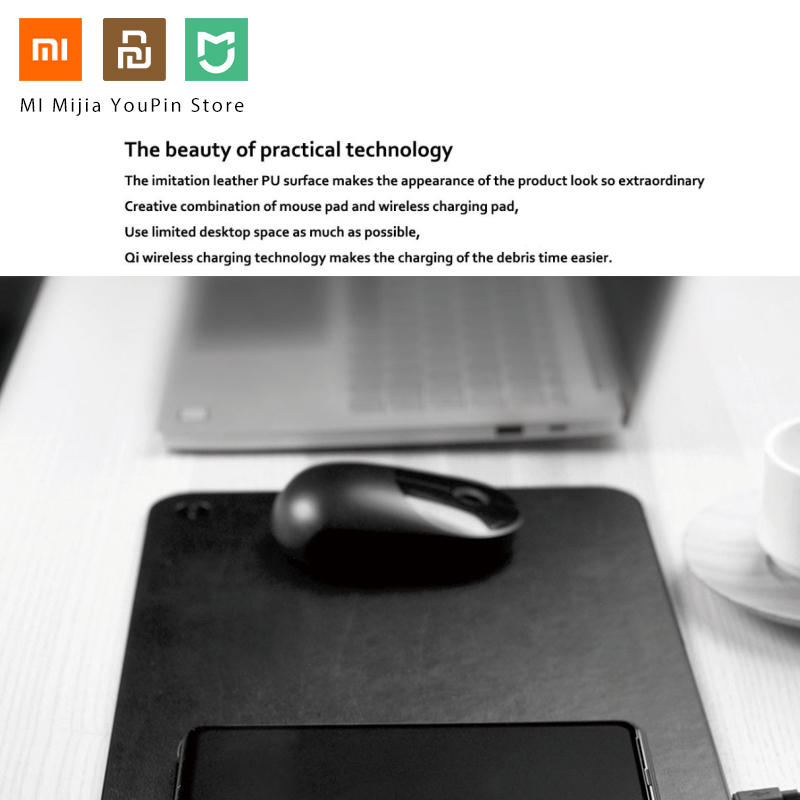 Image 5 - Original Xiaomi MIIIW Qi Wireless Fast Charger PU Leather Mouse 