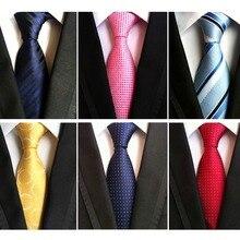 RBOCOTT 8 cm Fashion Dot Tie Classic Necktie Blue Neck Tie Red Striped Ties For Men Wedding Party Business Accessories