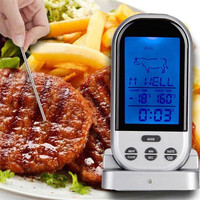 1 Set Wireless LCD Remote Thermometer For BBQ Grill Meat Kitchen Oven Food Cooking Party Barbecue