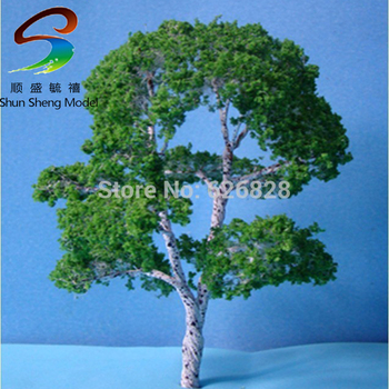 100pcs H :100mm model wire scale tree for building model layout model tree with leaf