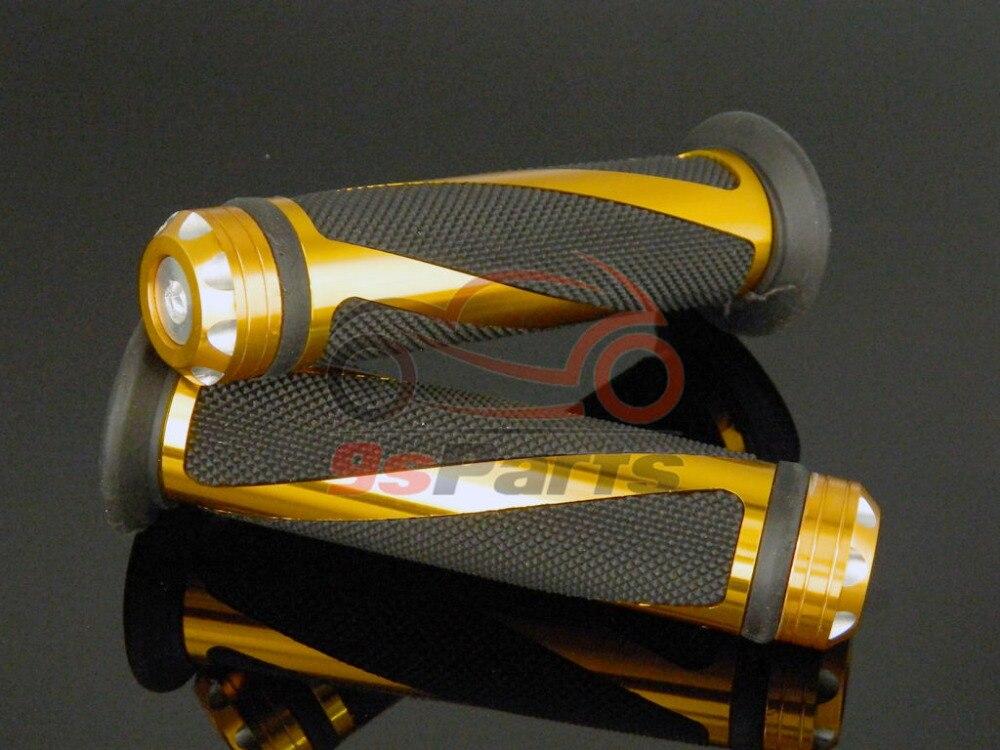 """Золотой мотоцикл Кроссовый Байк алюминиевый 7/"""" Руль прорезиненные ручки для Honda Yamaha Suzuki Kawasaki KTM ATV Ducati"""