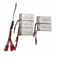 SYMA X56 X56W X54HW land and air remote UAV 5PCS 3.7V 600mah lithium battery with 1 support 5 conversion line