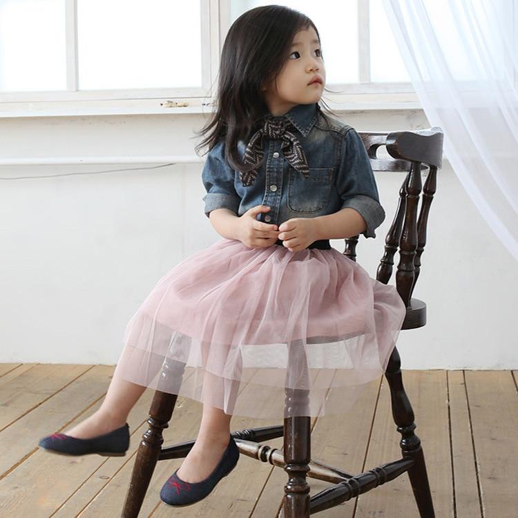 2018 Bahar Yay Uşaq Qızlar Ballerina Tutu Etek Uşaqlar Dolğun - Uşaq geyimləri - Fotoqrafiya 2