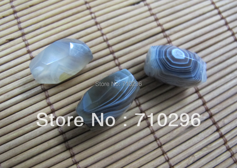 Wholesale 20beadslot Natural Botswana Agat e 12X18mm Faceted Nugget Gem stone Beads for Jewelry diy