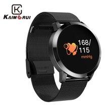 Купить с кэшбэком Kaimorui Smart Watch Heart Rate Tracker Bluetooth Smartwatch Call Reminder Stainless Steel Wriatband for Android and IOS Phone