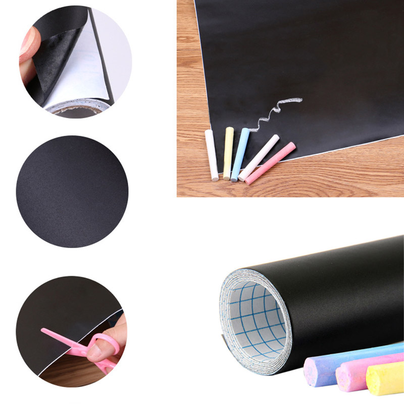 New Portable Removable Erasable Blackboard Stickers Chalkboard Office School Equipment Pizarras Presentation Boards 45*200CM