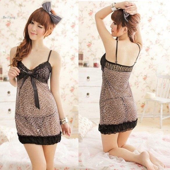 e0492f2c77 Lencería Sexy leopard mujeres faldas para mujer camisa de dormir ropa de  noche bordado de la ropa Babydolls eroticas pijamas YM8356 en Ropa exótica  de La ...