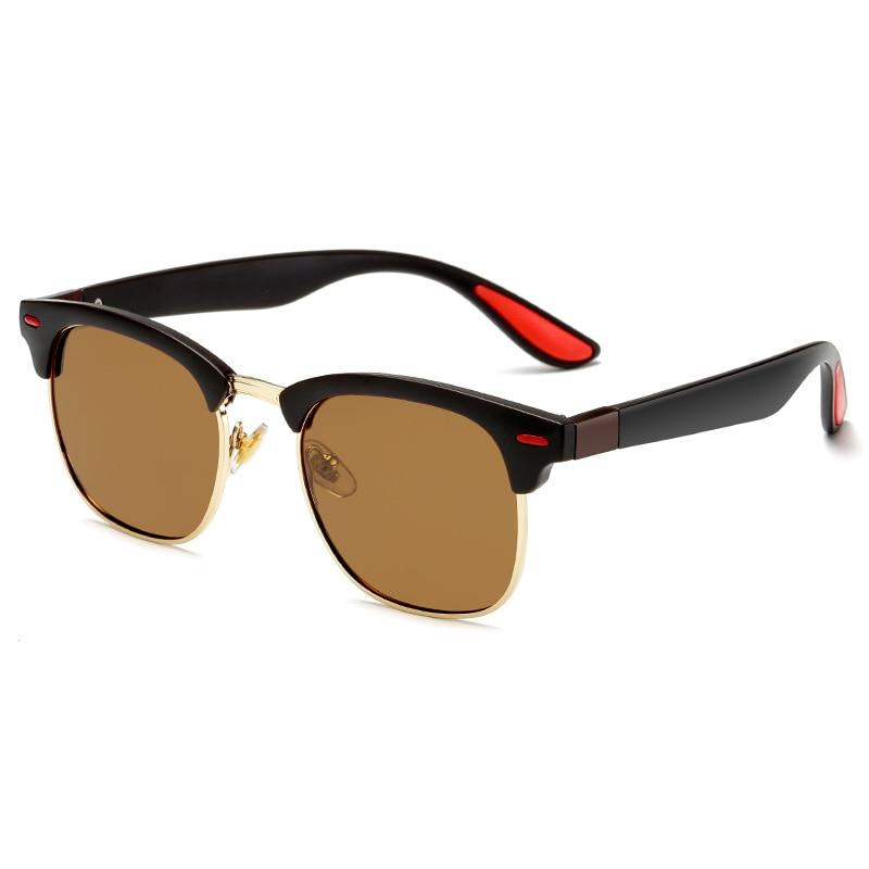 Classic Retro Rivet Polarized Sunglasses Men Women Brand Designer TR90 Legs Lighter Design Female Male Fashion Sun Glasses in Men 39 s Sunglasses from Apparel Accessories