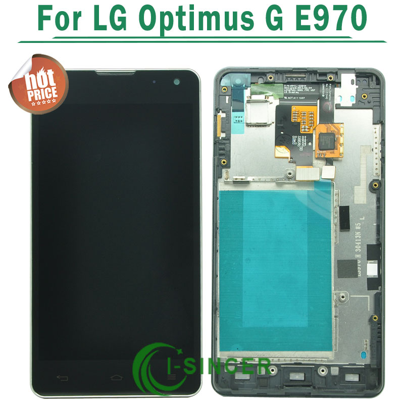 1/PCS For LG Optimus G E973 E975 LCD Screen With Touch Screen Digitizer+Frame Assembly Free shipping