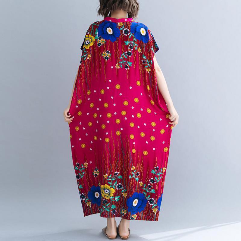 Plus Size 8XL 7XL 6XL Summer Dress Female Cotton Linen Bohemian Print Casual Tops Femme Robe Beach Style Women Maxi Dresses in Dresses from Women 39 s Clothing