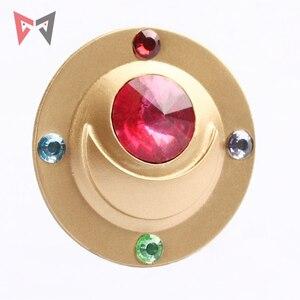 Image 2 - Athemis New Costumes Badge Sailor Moon Tsukino Usagi Cosplay Accessory Brooch Pins Shiny Acrylic Jewelry