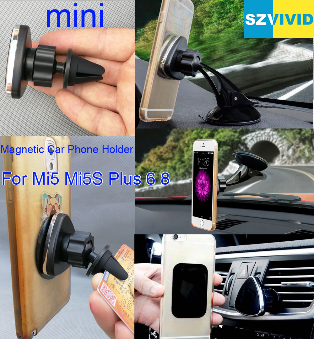 Magnetic Car Phone Holder Air Vent Outlet Mount For Xiaomi Mi8 Mi5S Plus 6 Magnet Dashboard Windshield