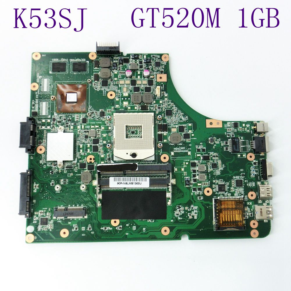K53SJ Mainboard GT520M 1GB N12P-GV-B-A1 For Asus A53S X53S P53S K53S K53SV Laptop Motherboard REV 2.1 HM65 DDR3 Fully Tested for asus k73sj motherboard rev 2 5 mainboard with nvidia geforce gt520m on board professional wholesale 100% working