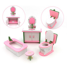 hot deal buy wooden scene simulation model creative diy furnishing hobbies classic pretend play furniture kits toys for children gift