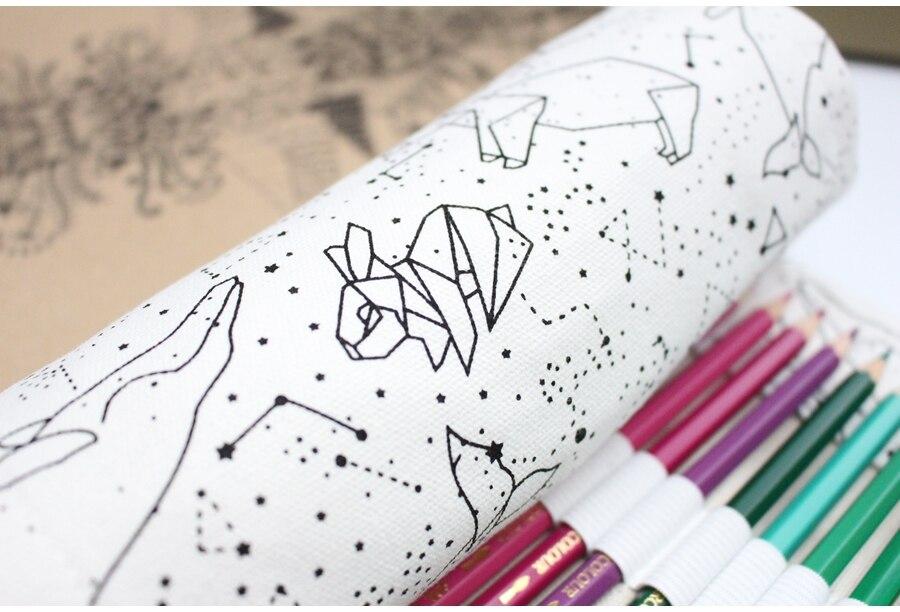 escola lona rolo bolsa caixa pecncil constelação