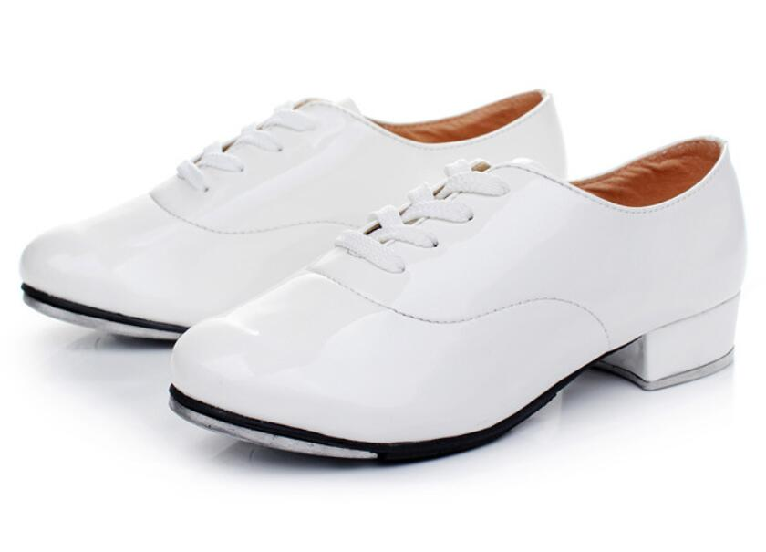 Image 3 - 2019 Size 25 44 Adult Men Children Boy Tap Dance Leather or PU Oxford Lace Up Shoes Girls Women Tap Dancing shoes WD194-in Dance shoes from Sports & Entertainment