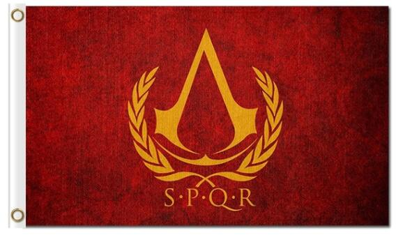 Assassins Creed Flags Spqr 3x5ft Custom Flags Ancient Rome Empire Flag Custom Any Hobby Business History Banner Flag Flags Banners Accessories Aliexpress