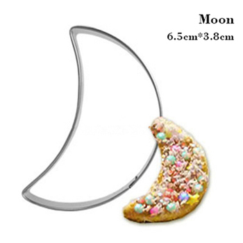 Moon Molds for Cookies Egg Pasta Cutter Mousse Ring Small Kitchen Knives Appliances Stainless Steel Cheap Baking Fondant