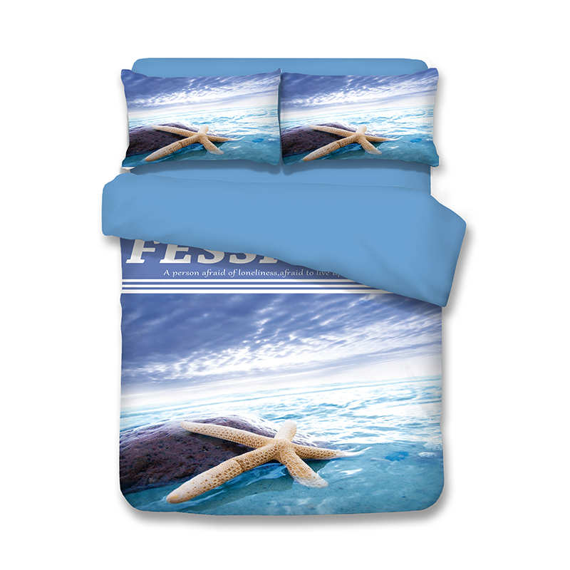 Seaworld Starfish Prints Bedding Set Bed Cover Bedspreads Twin Full Queen King 3/4pc Childrens Adults Bedroom Decora Blue ColorSeaworld Starfish Prints Bedding Set Bed Cover Bedspreads Twin Full Queen King 3/4pc Childrens Adults Bedroom Decora Blue Color