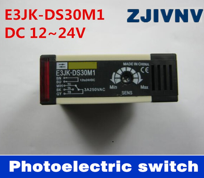 photoelectric switch E3JK-DS30M1 DC 12~24V, 90-250vac Diffuse reflection infrared switch photoelectric sensor free shippingphotoelectric switch E3JK-DS30M1 DC 12~24V, 90-250vac Diffuse reflection infrared switch photoelectric sensor free shipping