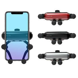 Image 2 - Bonola Teleskop Telefon Auto Halter Schwerkraft Verknüpfung Handliche Auto Telefon Halter Kleine Handy Navigation Stehen In Die Auto