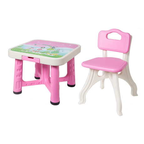 Children Furniture Sets plastic kids study table and chairs set one table two chairs sets kids Furniture assembly minimalist hot