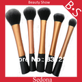 Sedona High Quality 5 pieces Super soft Taklon hair Golden makeup brush set  rose gold kabuki kit for makeup cosmetic brush