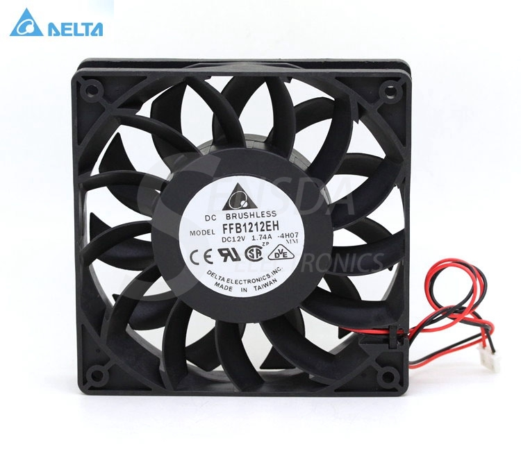 Delta ffb1212eh 12025 12cm 120mm DC 12v 1.74a 12cm server inverter cooling fan delta 12038 120mm 12cm ffb1212vhe dc 12v 1 5a 24w 4wire violence server industrial case cooling fans