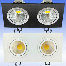 Hot sale Dimmable18W Double LED COB Ceiling downlight Recessed Cabinet Lamp AC110V /AC220V/AC230V/AC240V