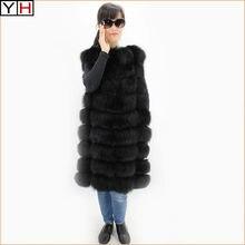 Neuf de Haute qualité Femmes naturel gilet fourrure de renard lady chaud  100% réel de fourrure de renard manteau d hiver de luxe. 00af394c9e8