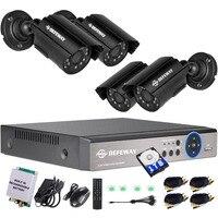 Defeway 1080N 8 канальный Системы видеонаблюдения 1 ТБ HDD DVR комплект 4 шт. Открытый ИК Ночное видение 1.0 МП с аварийный аккумулятор