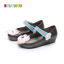 Kids Jelly Shoes Summer Children Mini SED Girls Sandals Baby Boys Beach Cartoon Unicorn 1-6 Years Old