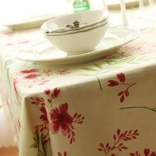 Flower Striped Print Decorative Table Cloth Cotton Linen Tablecloth Rectangular Cover Home Textile Tafelkleed Wedding Hot