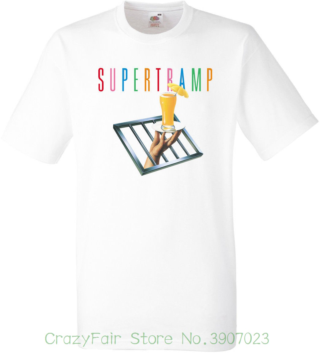 Supertramp White T Shirt Sublimation Summer Short Sleeves Fashion T Shirt Free Shipping