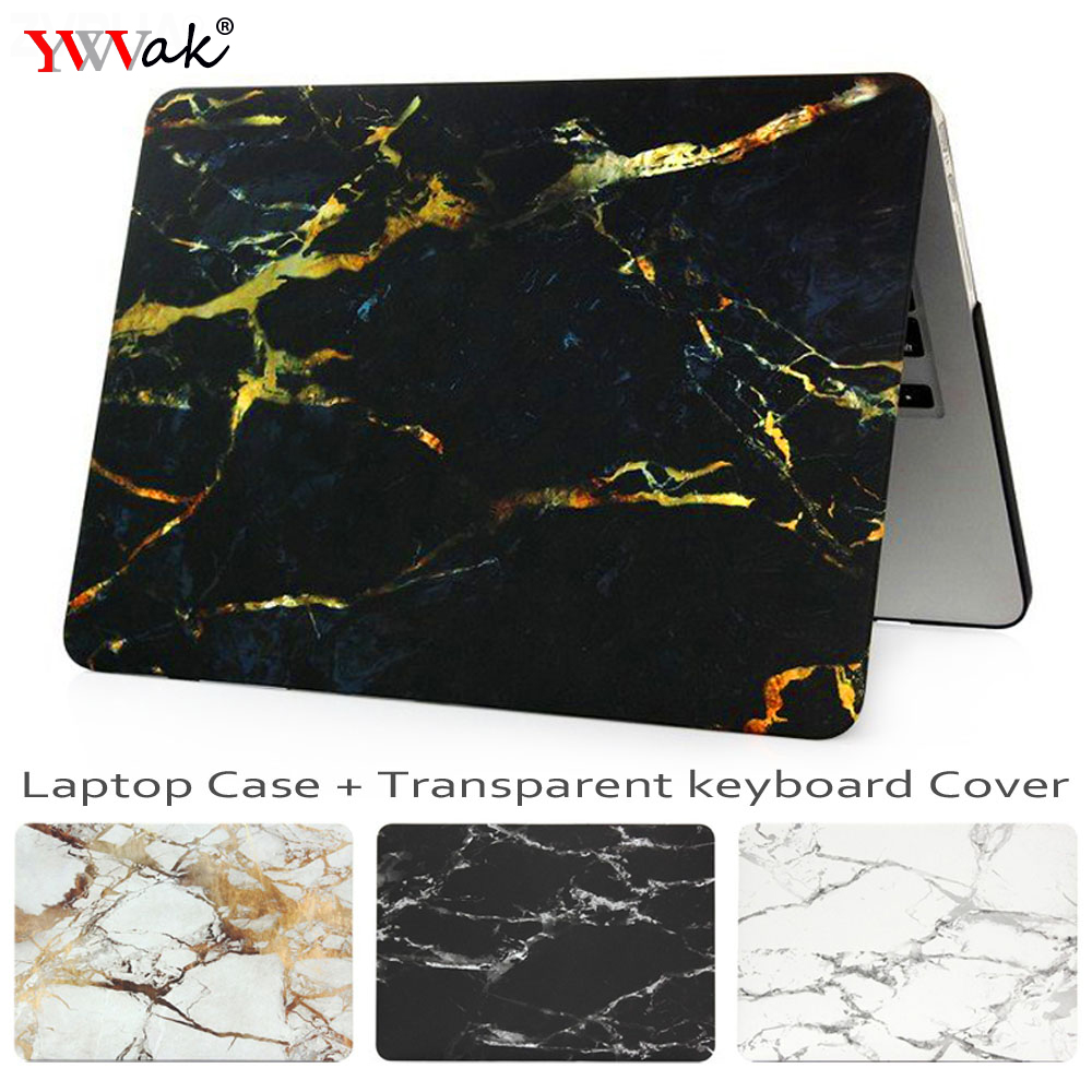 YWVAK Marble Laptop Case for Macbook Air Pro Retina 11 12 13.3 15 inch for New Mac Book 13 15 with Touch Bar +Keyboard Cover
