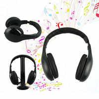 Casque 5 In1 Sans Fil ecouteurs bruit annuler Casque Audio Sans Fil Ecouteur Hi-Fi Radio FM TV Support MP3 MP4 # H20