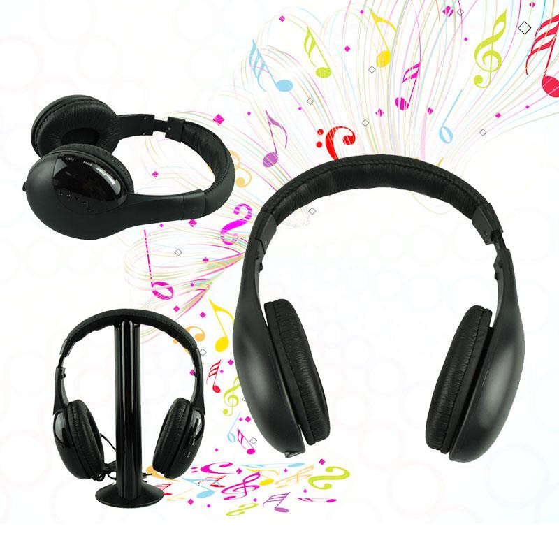 Headphones 5 In1 Wireless <font><b>Earphones</b></font> <font><b>noise</b></font> <font><b>cancel</b></font> headphone Casque Audio Sans Fil Ecouteur Hi-Fi Radio FM TV Support MP3 MP4 #H20 image