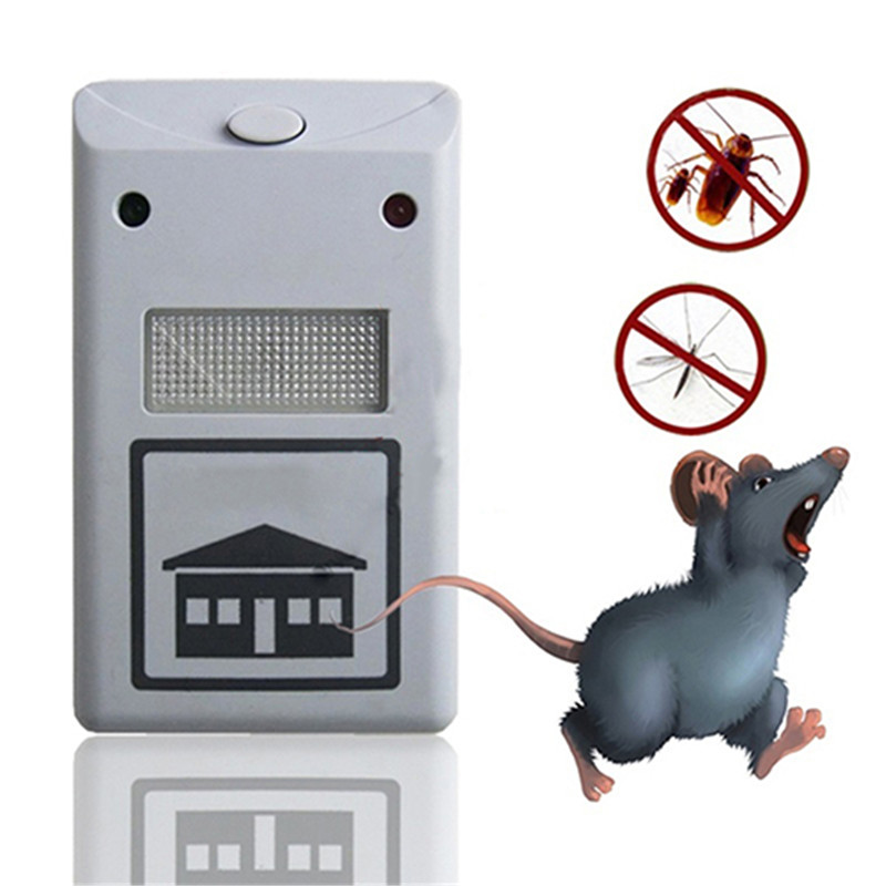 Mice Repellent Cockroaches Rat-Mouse Mole Rodent Reject Mosquito Pest Eu-Us-Plug Ultrasonic