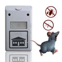 EU/US вилка Электронный ультразвуковой от крыс мышь репелленты для мышей грызунов вредителей насекомых отвергать моль комаров Тараканов Отпугиватель дропшиппинг