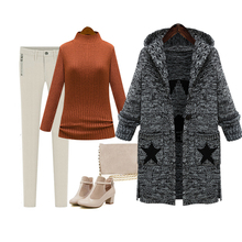 New style good quality Maternity autumn winter maternity yarn overcoat top 2016 loose medium-long maternity outerwear sweater