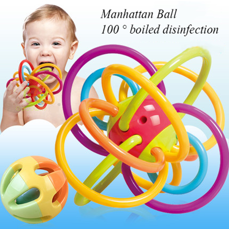 Newborn Silicone Teether Toys Rattle Baby Ball Soft Rattle Teether Developmental Education Bebek Oyuncak For Babies Toy 70C0499