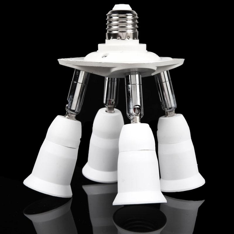 Base de la lampe Réglable avec 4 en 1 E27 Base Lumière lampe Ampoule Adaptateur Titulaire Socket Splitter 1 à 4 Meilleur prix