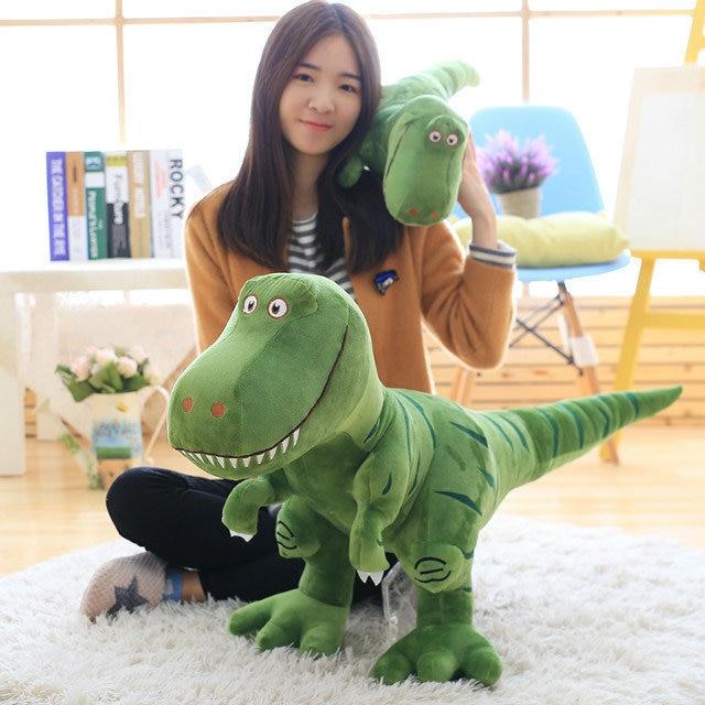 Dinosaur Plush Toys Jurassic Large Tyrannosaur Simulation Print Dinosaur Amusement Park Toys For Children Gifts dinosaur print makeup bag