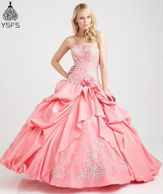 c95bacaf12d Elegant Fashion Lace up Masquerade Hot Pink Quinceanera Dresses Ball Gowns  Sweetheart Ruffle Sweet 16 Ball Gown