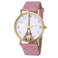 Women Watches Mens reloj mujer montre femme High Quality Dropshipping Noble Paris Women Faux Leather Analog Quartz Wrist Watch4*