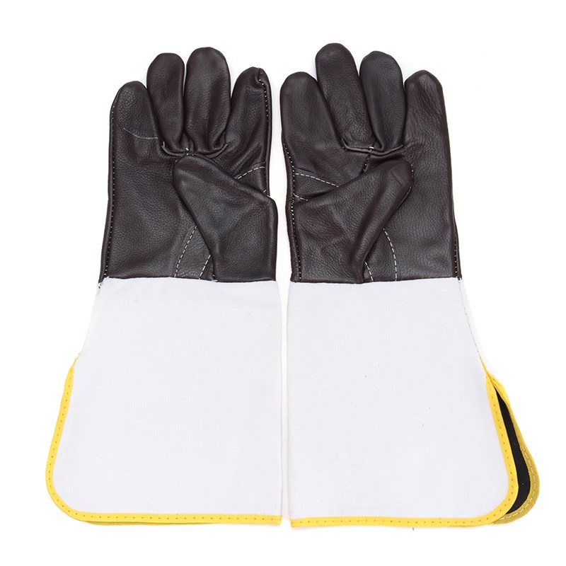 Safurance Anti-CuttingExtended Wearable Welding Gloves Industrial Leather Protective Glove Workplace Safety Fire Retardant 3 pairs oxygen tig welding gloves work gloves breathable firebreak welder safety glove