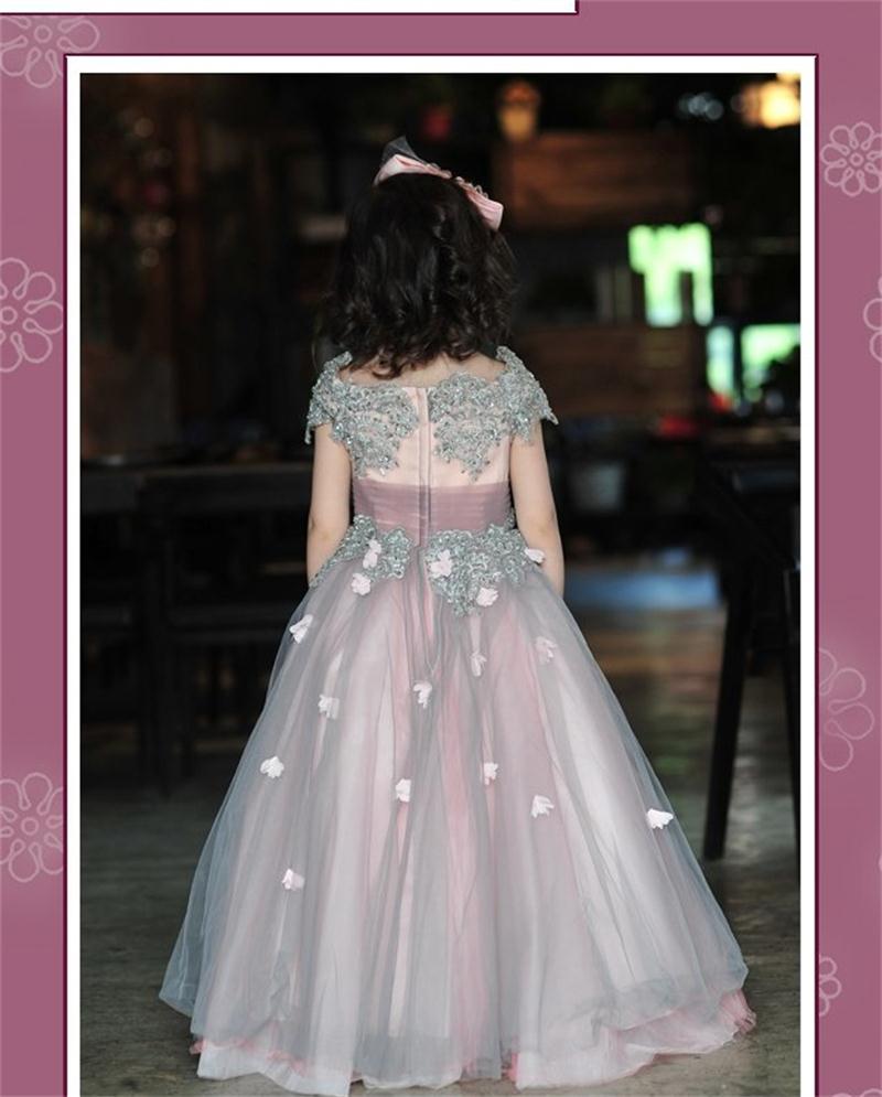 Dannifore Nach Maß Mutter und Tochter Kleider Perlen Hochzeitskleid ...