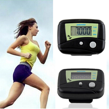Multifunctional Electronic Pedometer Black Digital LCD Run Step Run Pedometer Walking Calorie Counter Distance Clip-on