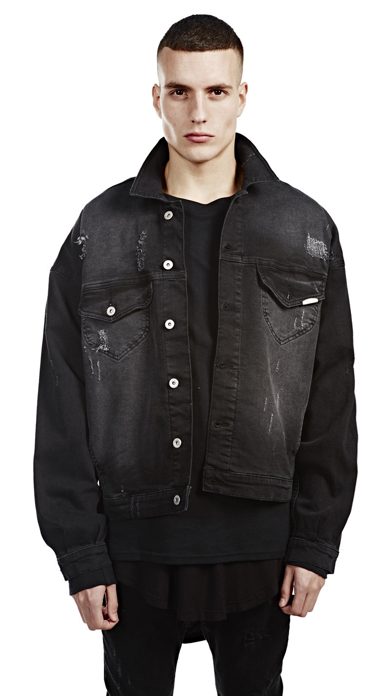 Denim Jacket Black - JacketIn